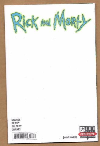 RICK AND MORTY #30 BLANK SKETCH VARIANT NYCC 2017