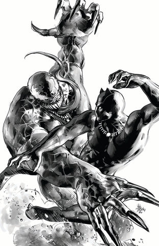 Black Panther #1 Mike Deodato Virgin Set