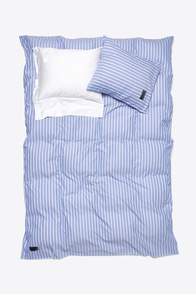 Wall Street <br> Duvet cover <br> Oxford <br> Stripe medium blue
