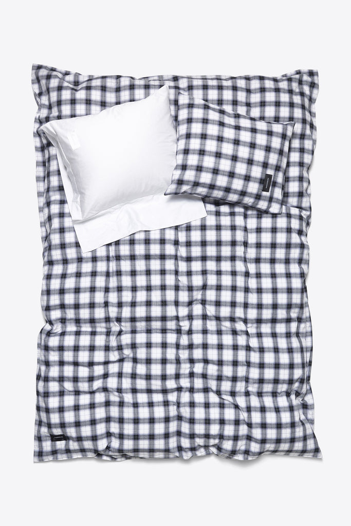 Rodeo <br> Duvet cover <br> Cotton & Lurex <br> Check