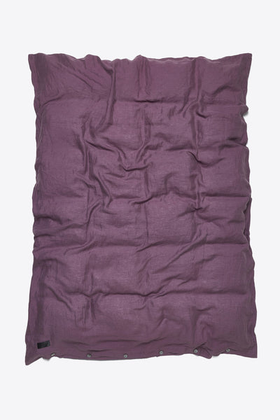 Mother <br> Duvet cover <br> Linen <br> Aubergine