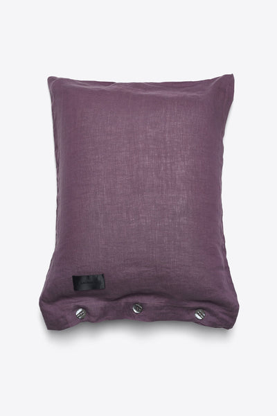 Mother <br> Pillow case <br> Linen <br> Aubergine