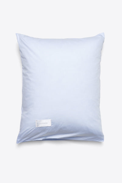 Wall Street <br> Pillow case<br> Poplin <br> Light blue dots jaquard
