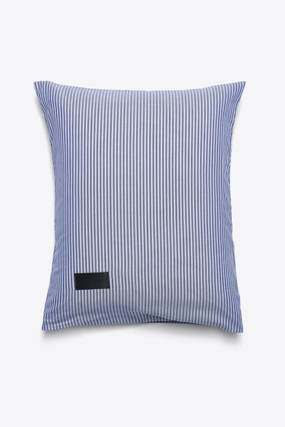 Wall Street <br> Pillow case <br> Oxford <br> Stripe dark blue