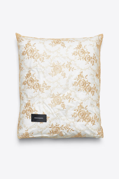 Rose <br> Pillow case <br> Lace <br> Apricot