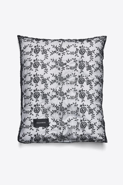 Rose <br> Pillow case <br> Lace <br> Black