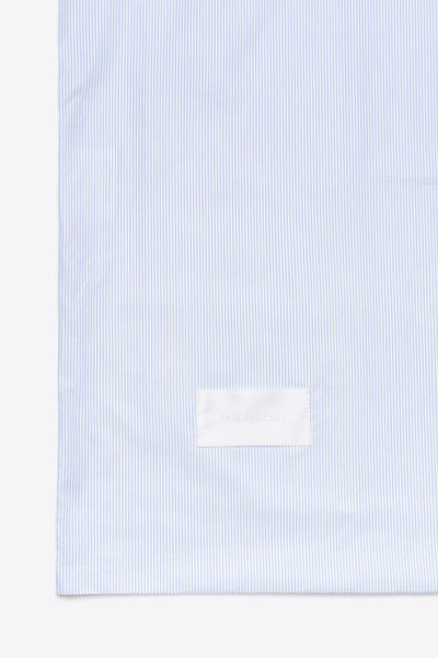 Wall Street <br> Pillow case<br> Poplin <br> Light blue stripes
