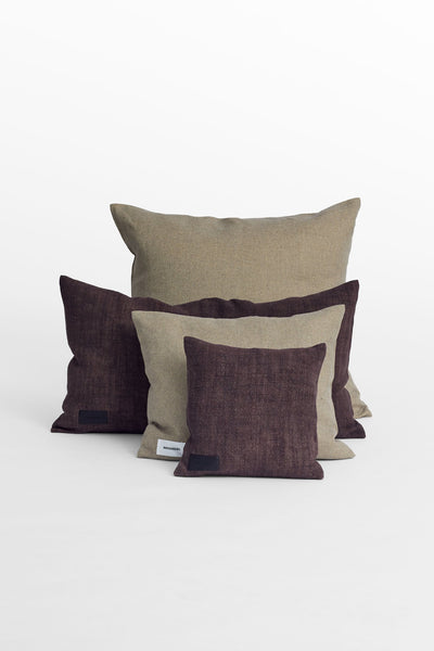 Cottage<br> Cushion <br> Linen <br> Natural Wine