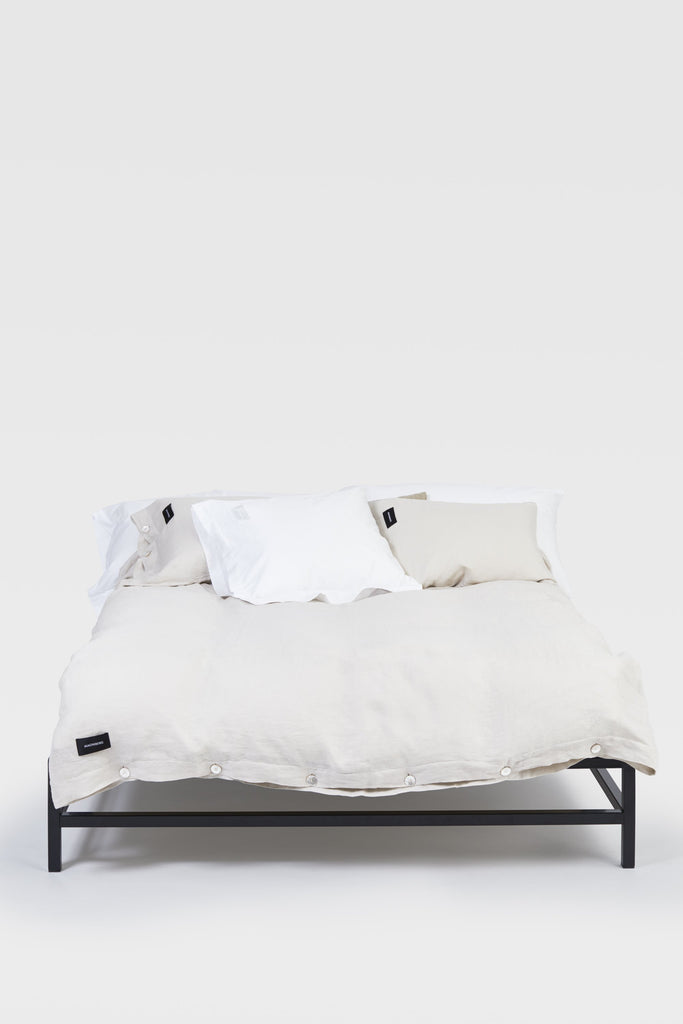 Mother <br> Duvet cover <br> Linen <br> Beige