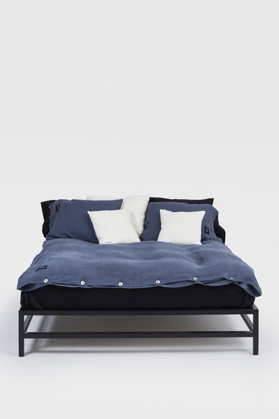 Mother <br> Duvet cover <br> Linen <br> Bluish grey