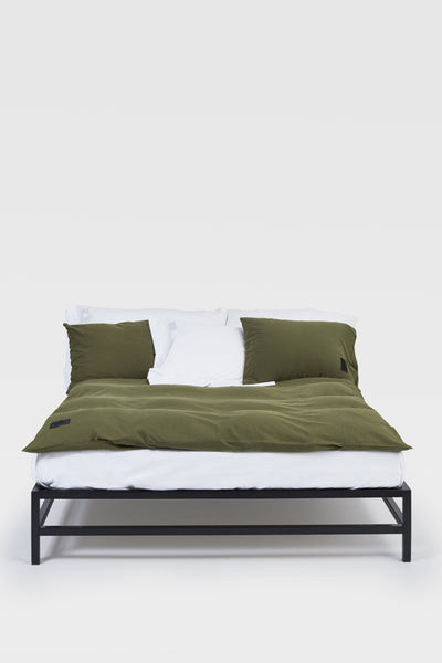 Nude <br> Pillow case <br> Jersey <br> Washed army green