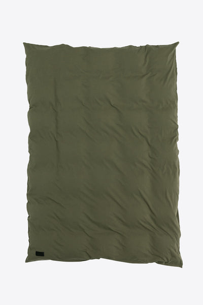 Nude <br> Duvet cover <br> Double jersey <br> Washed army green