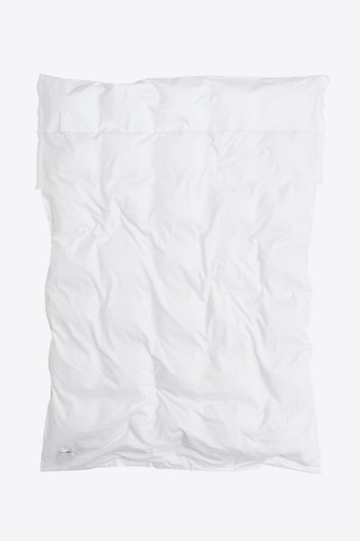 Raw <br> Duvet cover <br> Poplin <br> White