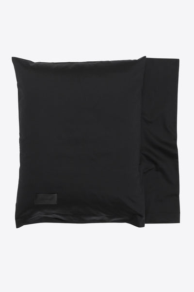 One <br> Pillow case <br> Sateen <br> Black