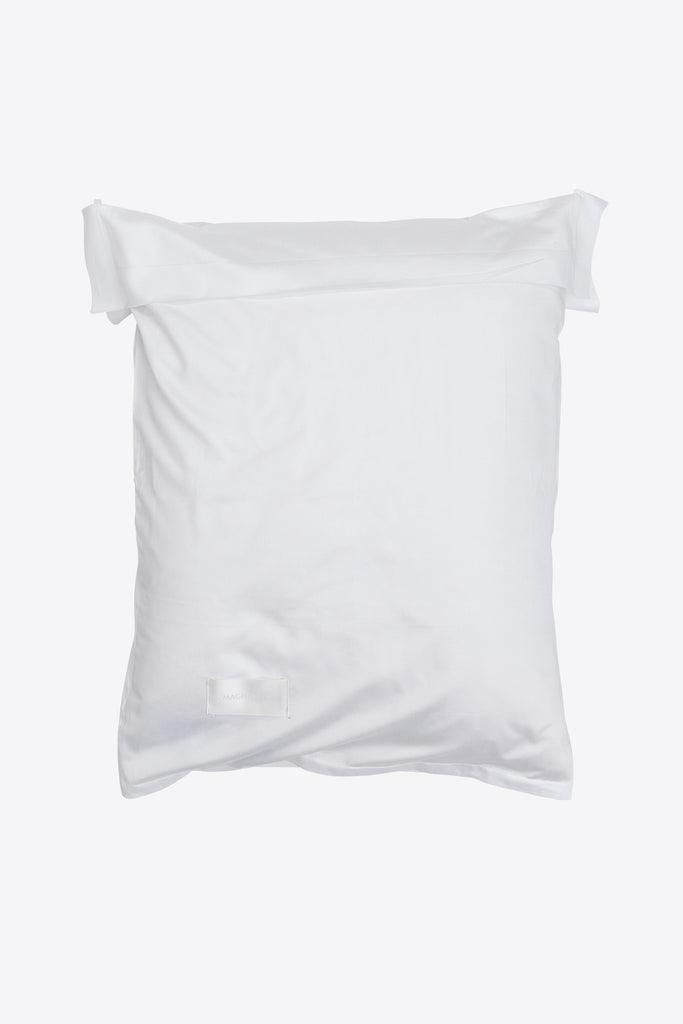 Raw <br> Pillow case <br> Sateen <br> White