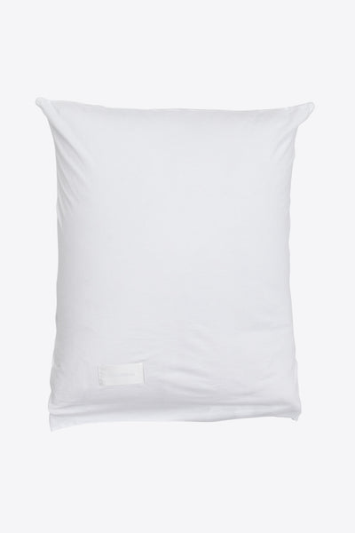 Nude <br> Pillow case <br> Jersey <br> Washed white