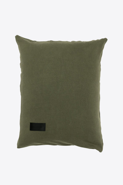 Nude <br> Pillow case <br> Double jersey <br> Washed army green