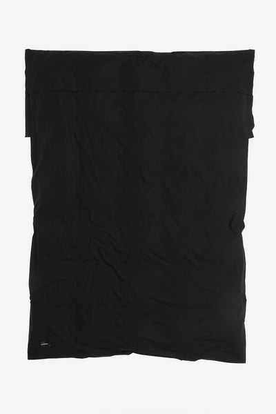 Raw <br> Duvet cover <br> Poplin <br> Black