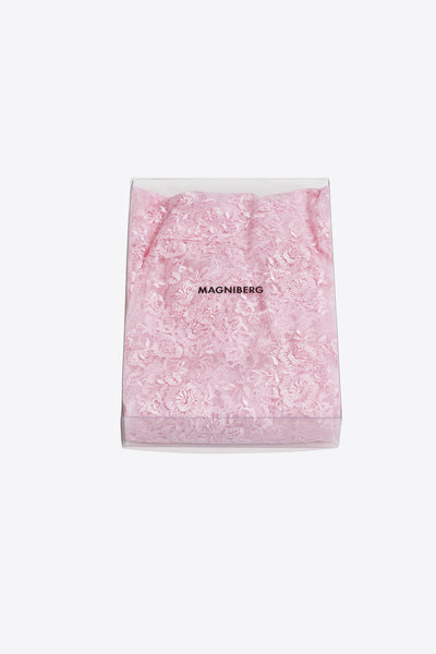 Rose <br> Pillow case <br> Lace <br> Pink