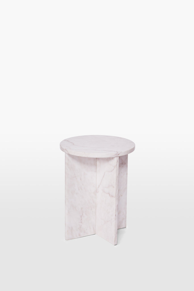 Cat <br> Stool <br> Marble <br> Pink