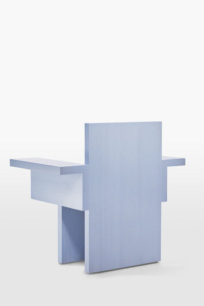 Horse <br> Armchair <br> Pine Wood <br> Baby blue
