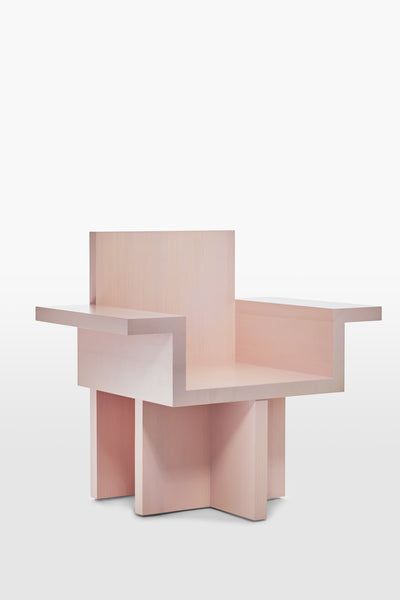 Horse <br> Armchair <br> Pine Wood <br> Pink