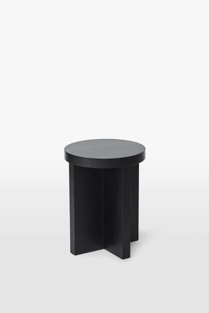 Cat <br> Stool <br> Pine Wood <br> Black