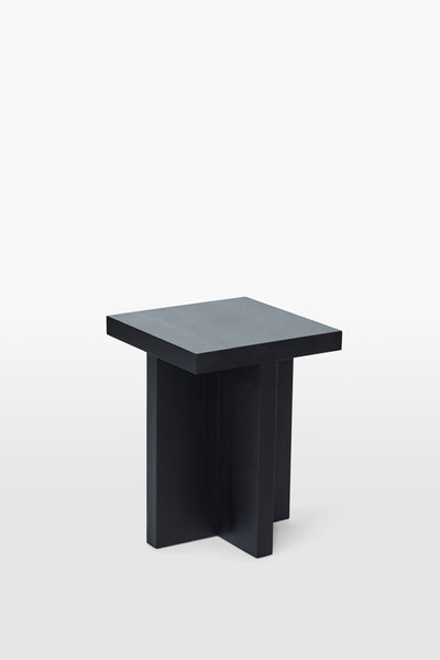 Fox <br> Stool <br> Pine Wood <br> Black