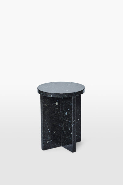Cat <br> Stool <br> Granite <br> Black Glitter