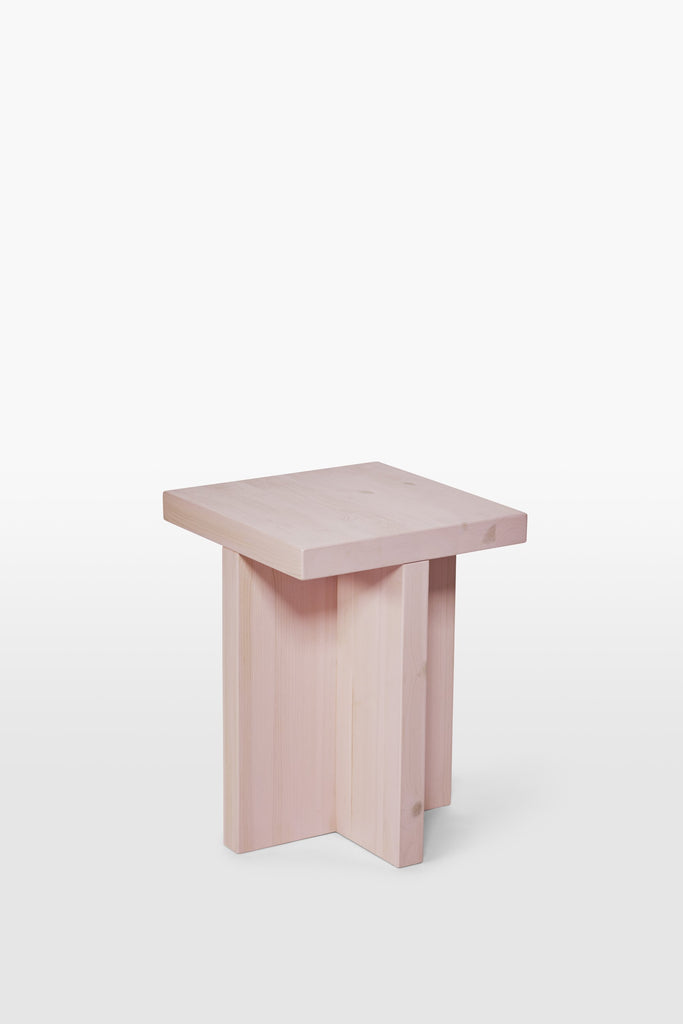 Fox <br> Stool <br> Pine Wood <br> Pink
