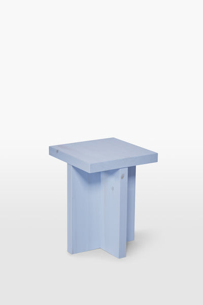 Fox <br> Stool <br> Pine Wood <br> Baby Blue