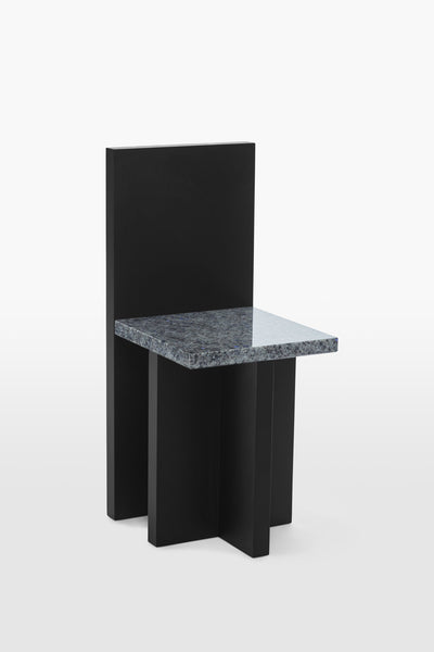 Pony <br> Chair <br> Pine Wood x Granite <br> Black x Grey
