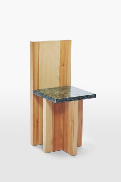 Pony <br> Chair <br> Pine Wood x Granite <br> Nature x Green