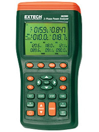 1000A 3-Phase Power Analyzer / Datalogger (50Hz) Extech 382091
