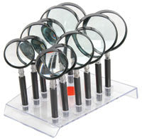 12 PIECE MAGNIFIER SET WITH STAND [700.071UK]