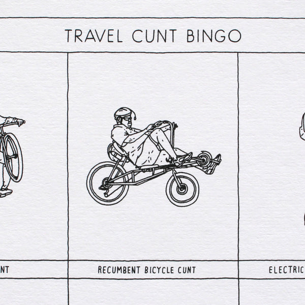 Travel Cunt Bingo - Artist Proof