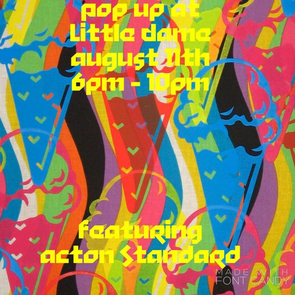 Stu Acton Solo Pop Up // August 11, 2017 || PAST EVENT ||