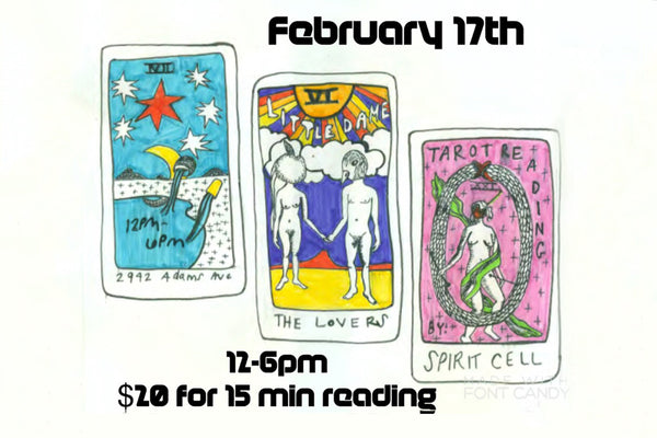 Tarot Readings // Feb. 17, 2018 || CANCELLED ||