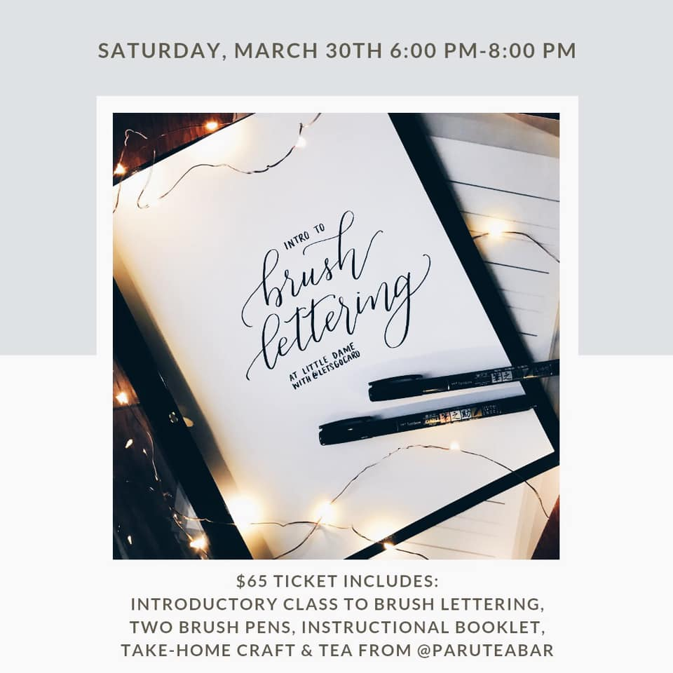 Intro to Brush Lettering | Little Dame