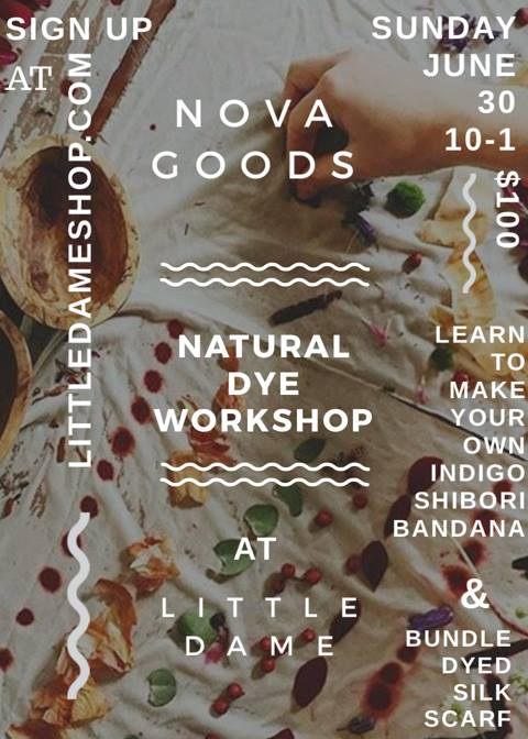 Nova Goods | Natural Dye Workshop