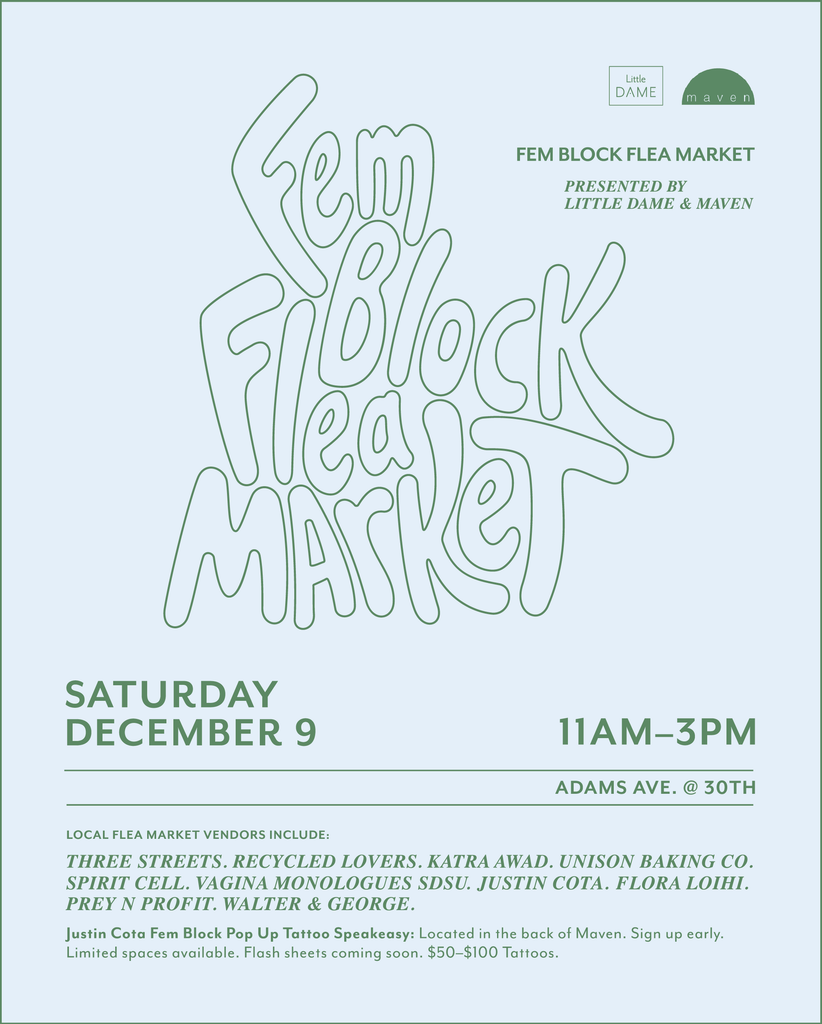 Fem Block Flea Market | December 2017 | Little Dame Shop | Maven