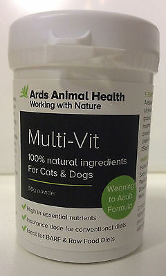 Multi-Vit powder 50g Natural Multivitamin & minerals Supplement for Cats and Dogs