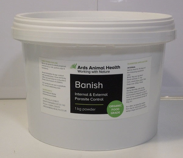 Banish Natural Organic Parasite & Nuisance Insects Control For Birds 1kg