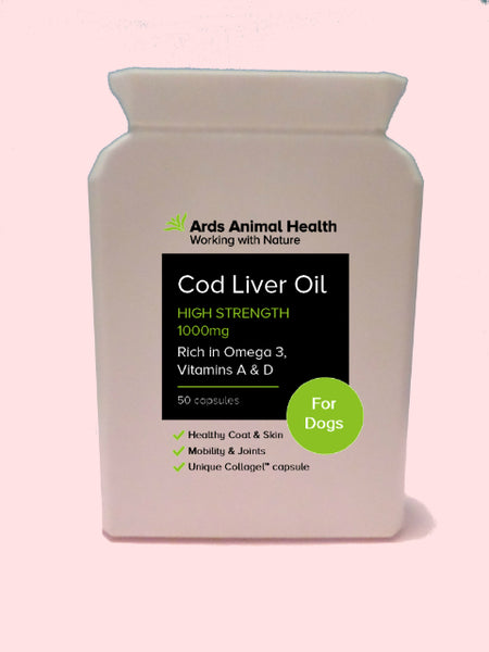 Cod Liver Oil 1000mg High Strength Collagel Capsules For Dogs