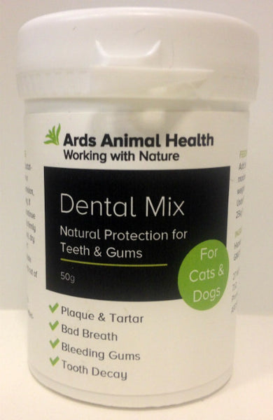 Dental Mix for Cats Natural Protection for Teeth and Gums Plaque Removal