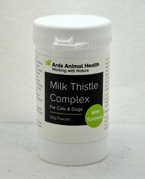 Milk Thistle Complex for Cats Natural Liver Support Repair Protect 50g powder