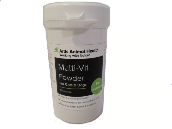 Senior Multi-Vit Natural Multivitamin & minerals for Cats powder supplement 50g