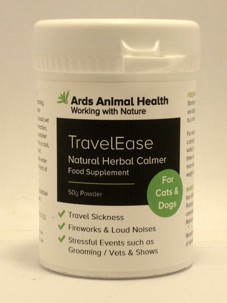 TravelEase Natural Calmer for Dogs anxiety travel-sickness stress fireworks