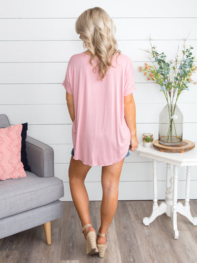 Fairytale Bliss Crossover Top - Dusty Pink