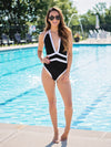 Resort Life Color-Block One Piece - Black